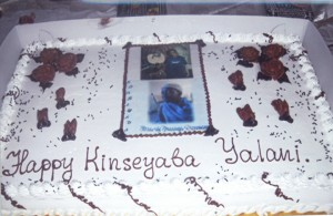 The cake was served at Yalani's Kinseyaba, held at the African American Art and Culture Complex in the Fillmore.