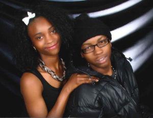 Yalani Chinyamurindi and his sister, Takeyah Davis-Chandler, in about 2013