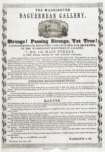 Augustus Washington's Daguerrean Gallery handbill