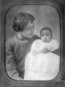 "Carolina ""Carrie"" Hughes with baby Langston"