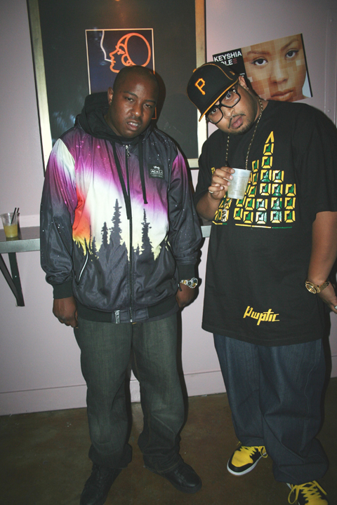 The Jacka and Lee Majors at a Keyshia Cole concert in 2007 – Photo: JR Valrey, Block Report