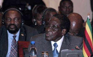 President Mugabe speaks at the 33rd Southern African Development Community heads of state summit on Aug. 18, 2013, after being elected to a second five-year chairmanship. – Photo: Amos Gumulira