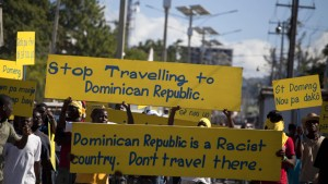 We Are All Dominican, an activist group in New York City, is calling for a tourism boycott of the Dominican Republic to denounce racism and apartheid targeting Haitians. – Photo: Dieu Nalio Chery, AP