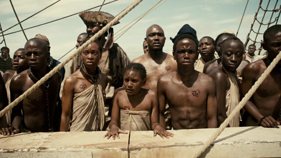 "A scene from Episode 1 of the BET series ""The Book of Negroes"""