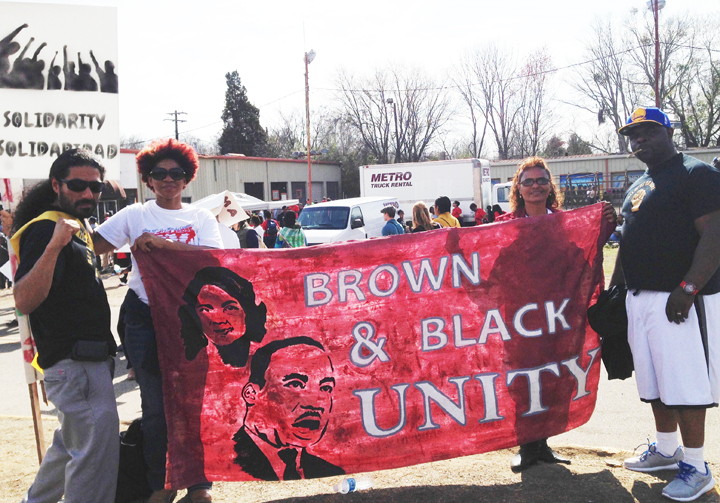 All-of-Us-or-None-2400-mile-journey-to-Bloody-Sunday-50th-Selma-Manuel-La-Fontaine-Flore-Johnson-of-Huntsville-unk-Askari-Amin-of-AOUON-0315, Formerly incarcerated people drive 2,400 miles to celebrate 50 years since Bloody Sunday in Selma, National News & Views