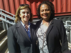 S.F. Port Commissioner President Leslie Katz and Port publicist Renee Martin – Photo: Rochelle Metcalfe