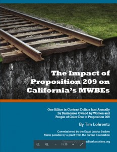 'The Impact of Prop 209 on Cali's MWBEs' report cover