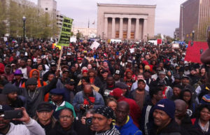 In Baltimore on Monday, April 27, 10,000 hit the streets to demand justice for Freddie Gray.