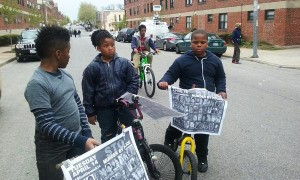 "Children asked by a reporter where they were headed said, ""We're going to the march. We'll be up front!"""
