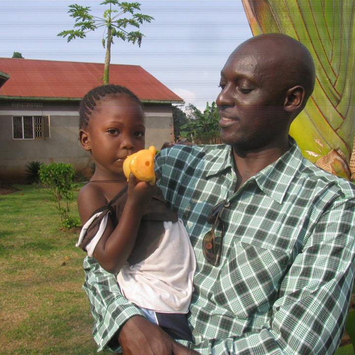 Dr. Edmund Lubega, seen here with his niece, says that Africa's emergency response to the West African Ebola epidemic makes him think the continent's future is bright.