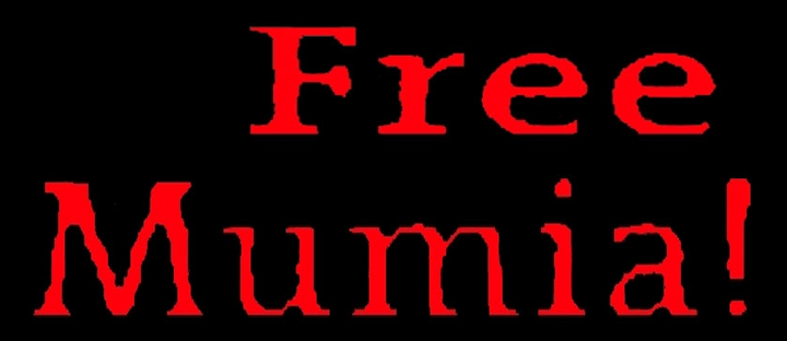 'Free Mumia!' bright red