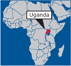Map Of Africa Uganda Highlighted.Uganda Map Of Africa Jackenjuul
