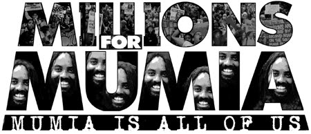 'Millions for Mumia' graphic