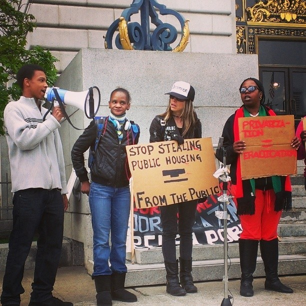 'Stop stealing public housing from the public' protest SF City Hall by PNN-2