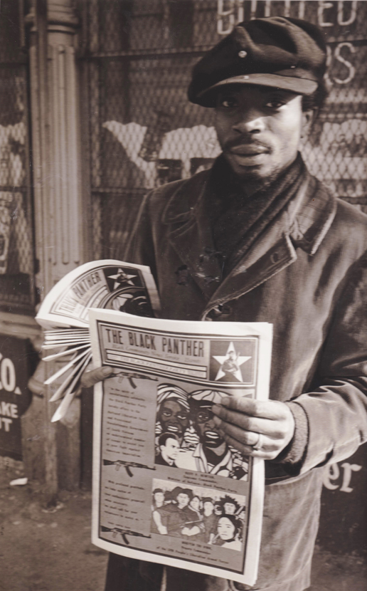 Black-Panther-newspaper-young-Panther-sells-Emory-Douglas-designed-ppr-cy-Its-About-Time-web1, Remembering the Black Panther Party newspaper, April 25, 1967- September 1980, Culture Currents