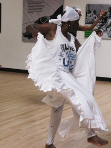 The dancer Candance rehearses for the Blanche Brown Tribute. – Photo courtesy of Congo SQ West