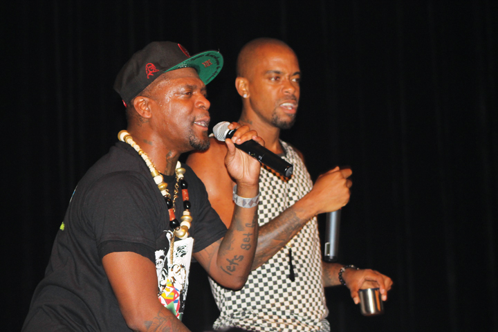M1 and Stic Man of dead prez close out the historic concert for the Cuban 5, who were released from long prison terms shortly thereafter. – Photo: Amoa Salaam