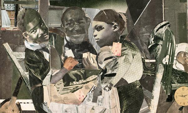 """Southern Recollections"" – Photomontage: Romare Bearden"