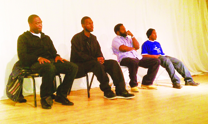 M1 and Young Malcolm, along with filmmaker Samm Styles and Minister of Information JR were panelists at the People's Human Rights and Hip Hop Film Festival on Feb. 12, 2011. – Photo: JR Valrey, Block Report