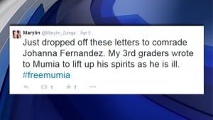 Marylin Zuniga's tweet 'dropped off ltrs to Johanna' 040515