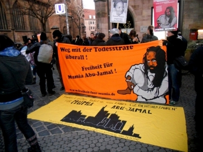 Germans rally for Mumia in Nuremberg.
