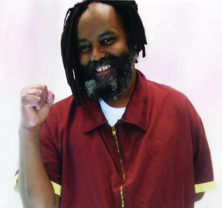 "Mumia is glowing here, on Feb. 6, 2012, shortly after he was released from 30 years of solitary confinement on death row to ""general population,"" or the mainline. Recent photos show how terribly sick he is, due to gross medical neglect and abuse by the prison."