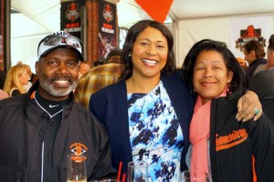 Enjoying the Giants' VIP pre-game luncheon and each other's company are Tommie Moon, London Breed and San Francisco Port Commissioner Kimberly Brandon. – Photo: Harrison Chastang