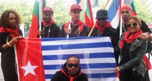 West Papuans display their flag, a serious crime for which many West Papuans have been imprisoned, as they continue to fight for recognition. – Photo: voiceofmelanesia.com