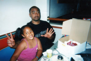 Darnell Benson with his daughter, Darion