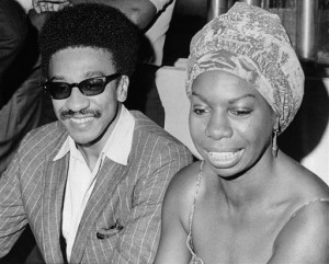 Nina Simone was a genuine revolutionary – here with H. Rap Brown (now Imam Jamil Al-Amin) at a conference of the Association of (Black) Radio Announcers in Atlanta on Aug. 10, 1967. – Photo: BJ, AP