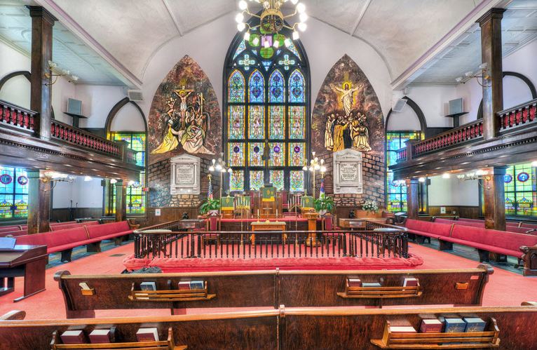 """""""Mother Emanuel,"""" as this magnificent church is known, is the oldest AME church in the South – founded in 1816 – with the oldest and one of the largest Black congregations south of Baltimore. – Photo: TheChurchesoftheWorld.com"""