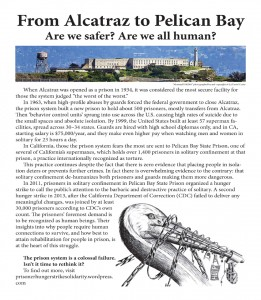This is the flier that started many interesting conversations when activists handed it out to tourists at the Alcatraz ferry terminal in San Francisco on Pier 33.