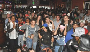 """The festival closed with an explosion of enthusiasm for """"Mac Dre: Legend of the Bay,"""" packing the Boom Boom Room. That's Dre's mother, Mac Wanda, to the left in the white shirt and black jacket. – Photo: D. Ray Archer"""