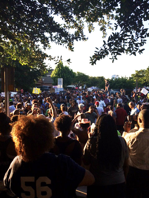 Though McKinney is a small town, the crowd that turned out Monday was huge. – Photo: Elroy Johnson