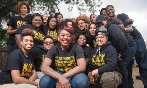 Alicia Garza with the Bay Area chapter of #BlackLivesMatter – Photo: Kristin Little