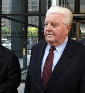 Former Chicago Police Cmdr. Jon Burge leaves the Chicago Federal Building on May 24, 2010, during his trial. – Photo: Charles Rex Arbogast, AP