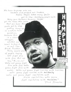 """Fred Hampton"" – Art: Kevin ""Rashid"" Johnson, 1859887, Clements Unit, 9601 Spur 591, Amarillo TX 79107"