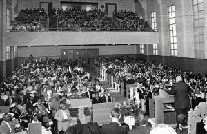 In 1958, when the Rev. Frederick Douglass Haynes, after whom Frederick Douglass Haynes Gardens is named, was pastor, NAACP President W.E.B. DuBois spoke at Third Baptist Church. Several large Fillmore churches were lost when the district, called Harlem of the West, was bulldozed to push Blacks out of San Francisco, and as a gesture of reparations, each was allowed to build a new affordable housing development in the neighborhood. Now that San Francisco is again determined to rid itself of Blacks, those developments are being taken over and lost to the Black community. Third Baptist Church is fighting back.
