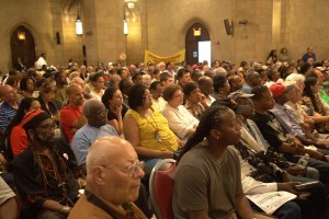 The renowned Riverside Church in New York City was filled to capacity for Cynthia McKinney's Sept. 30, 2011, report on Libya, where she risked her life for a just peace during the U.S.-NATO invasion.