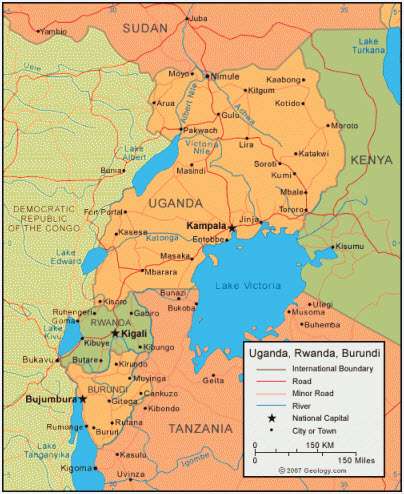 Rwanda and Burundi share not only a border but also the bipolar Hutu-Tutsi demographic. Like Uganda, Rwanda and Tanzania, Burundi also shares a border with eastern DR Congo.