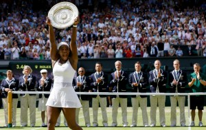Serena Williams wins the women's singles final at the All England Lawn Tennis Championships in Wimbledon, London, on Saturday, July 11, 2015. – Photo: Kirsty Wigglesworth, AP