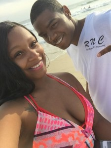 """""""The Spot"""" hosts Kyss Couture CEO Jametria Johnson and Real Niggas N-Corporated CEO Benny Franco on the beach"""