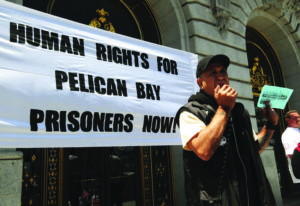 Bato Talamantez of the San Quentin 6 makes the first public appeal, on June 17, 2011, to support the hunger strike, organized by prisoners in the Pelican Bay SHU, which began on July 1, 2011. Participation by an amazing 6,600 prisoners across the state was topped months later in the second hunger strike that 12,000 participated in and the last hunger strike, beginning July 8, 2013, which drew 30,000 participants, the largest hunger strike in world history. – Photo: United for Drug Policy Reform