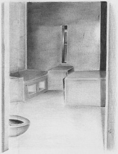 """Billy """"Guero"""" Sell, who died on hunger strike as his neighbors shouted for help, was an accomplished artist. This is his Corcoran SHU cell. – Photo: courtesy Prisoner Express"""