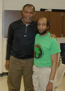 Danny Glover, visiting Mondo we Langa, is one of many celebrity supporters of Mondo and his comrade Ed Poindexter. These Black Panthers have been locked up on charges they deny based on virtually no evidence for more than 40 years.