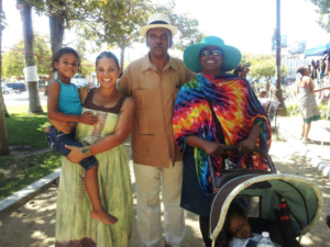 Dedon Kamathi, Cynthia McKinney and friends enjoy a day in the park.