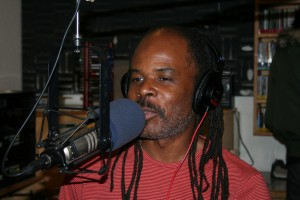 Greg Bridges on the air, 2007 – Photo: JR Valrey, Block Report