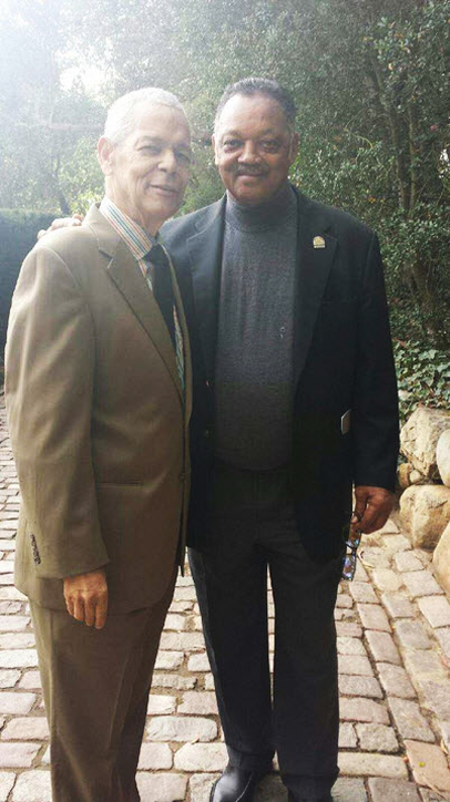 Long time comrades Julian Bond and Jesse Jackson – Photo: @RevJJackson