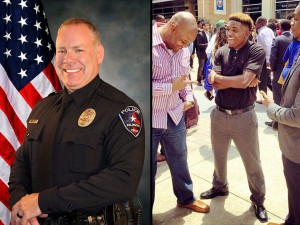 Killer cop Brad Miller, 48, and his victim, college football defensive back Christian Taylor, 19