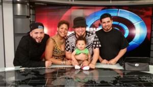 The Rebel Diaz family: G1, Claudia De La Cruz, Rodrigo Starz with baby Roque Starz and Peruvian cousin Sense Hernandez